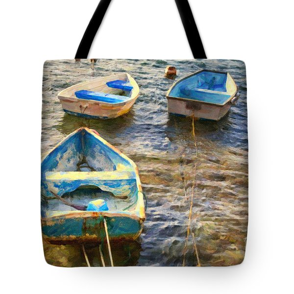 Tote Bag featuring the photograph Old Bermuda Rowboats by Verena Matthew