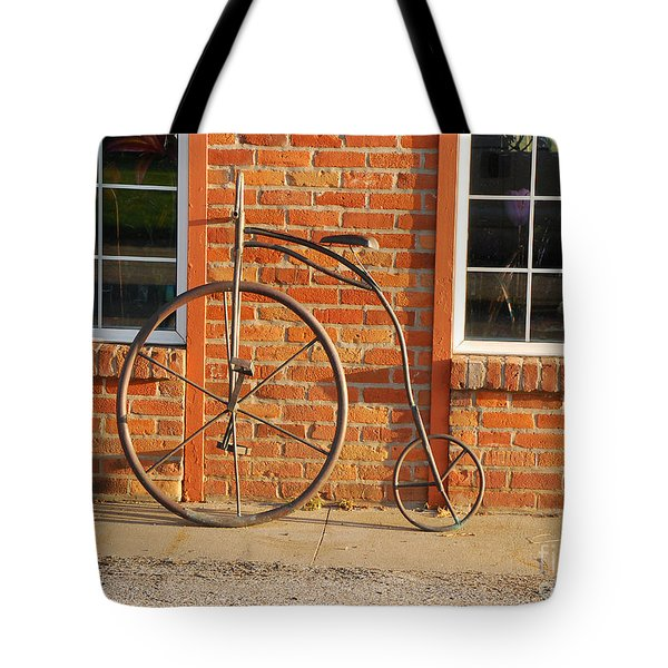 Tote Bag featuring the photograph Old Bike by Mary Carol Story