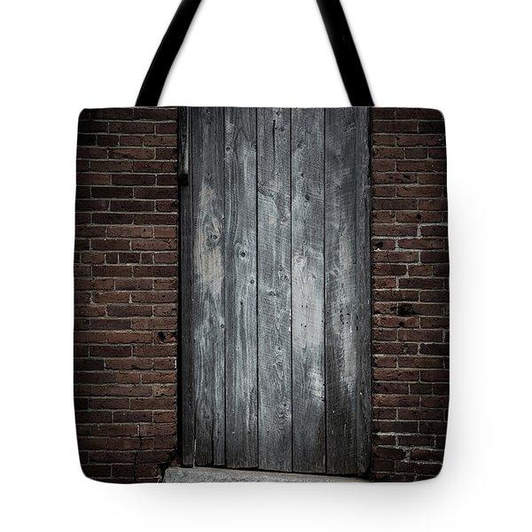 Old Blacksmith Shop Door Tote Bag