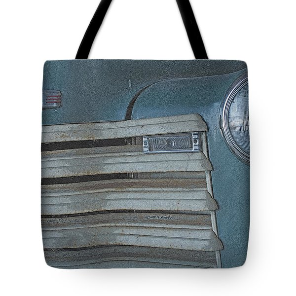 Tote Bag featuring the photograph Old Blue by Lynn Sprowl