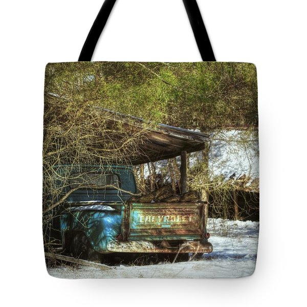 Old Blue Tucked Away Tote Bag