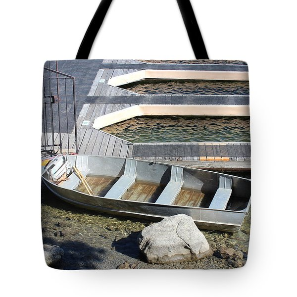 Old Boat And Dock Tote Bag