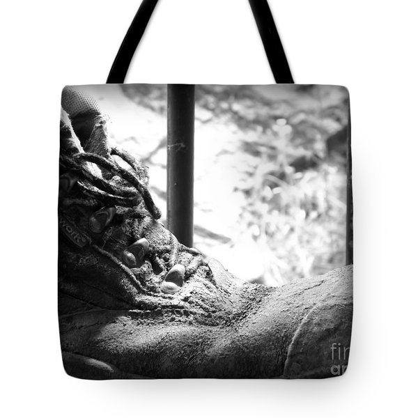 Tote Bag featuring the photograph Old Boots by Clare Bevan