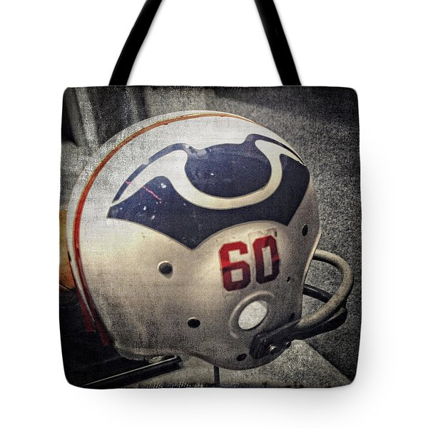 Old Boston Patriots Football Helmet Tote Bag