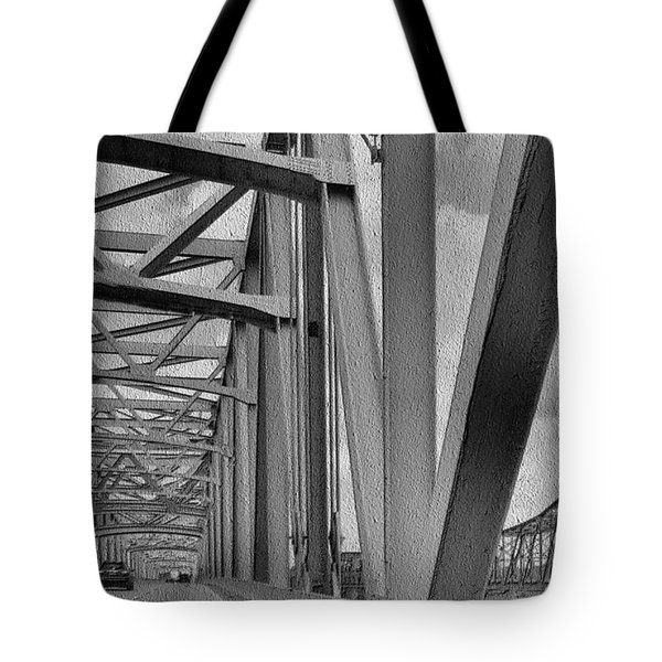 Tote Bag featuring the photograph Old Bridge New Bridge by Janette Boyd