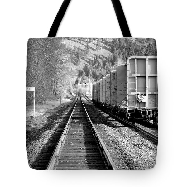 Old Bristol Rail In Ellensburg Tote Bag