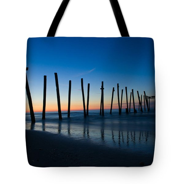 Tote Bag featuring the photograph Old Broken 59th Street Pier by Louis Dallara