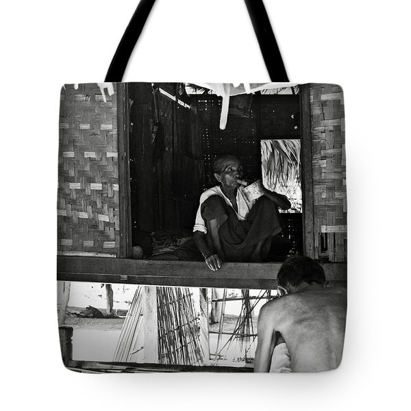 Old Burmese Smoker Woman Tote Bag by RicardMN Photography