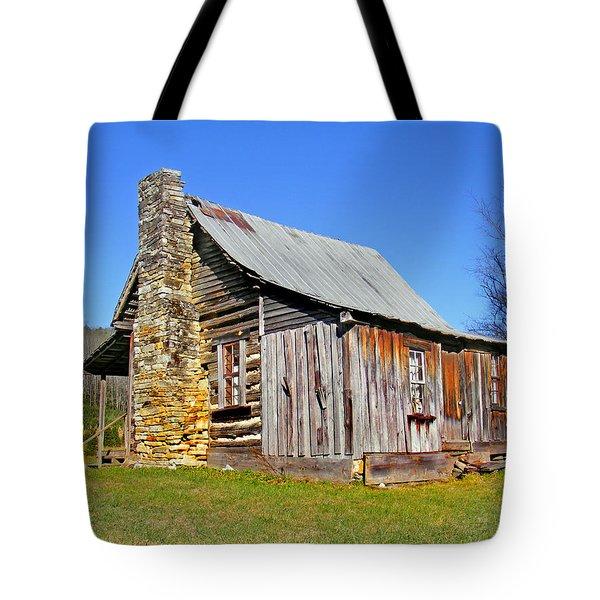 Old Cabin Along Macedonia Church Road Tote Bag