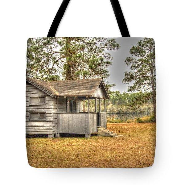 Old Cabin In Georgia Tote Bag