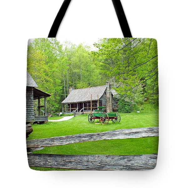 Old Cabins At The Cradle Of Forestry Tote Bag