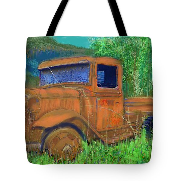 Old Canadian Truck Tote Bag