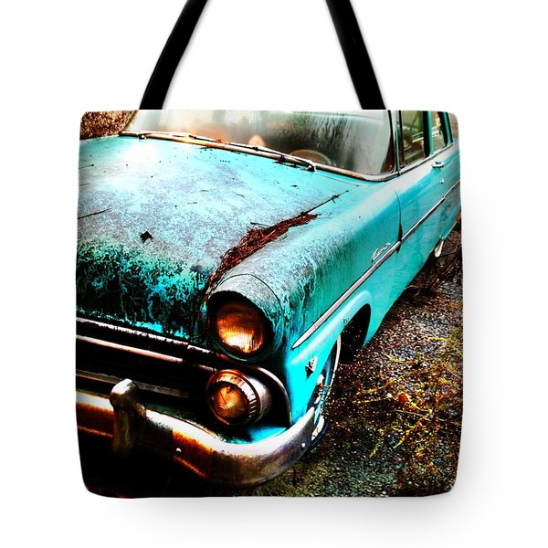 Old Car Tote Bag by Janice Spivey