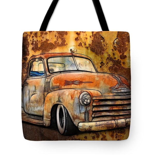 Old Chevy Rust Tote Bag