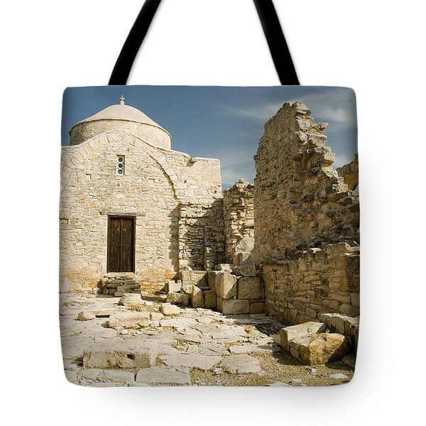 Old Church Anogyra  Tote Bag