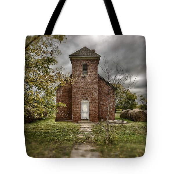 Old Church In Fall Tote Bag
