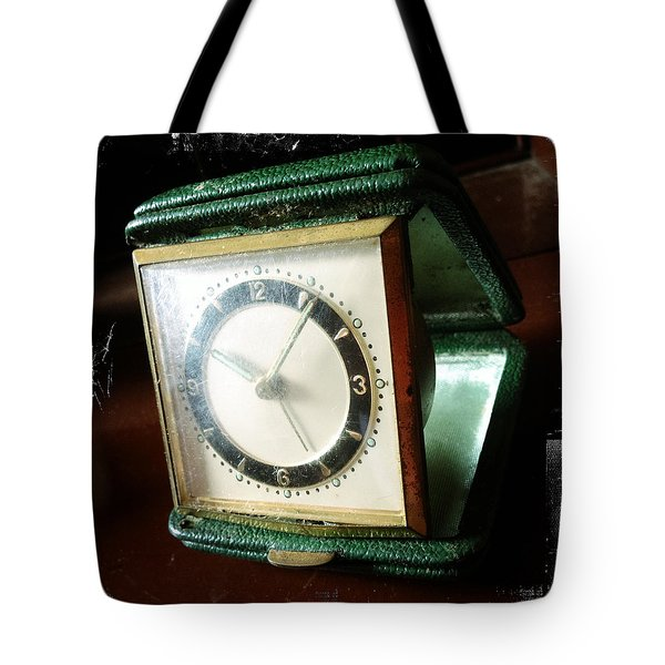 Old Clock Tote Bag by Les Cunliffe