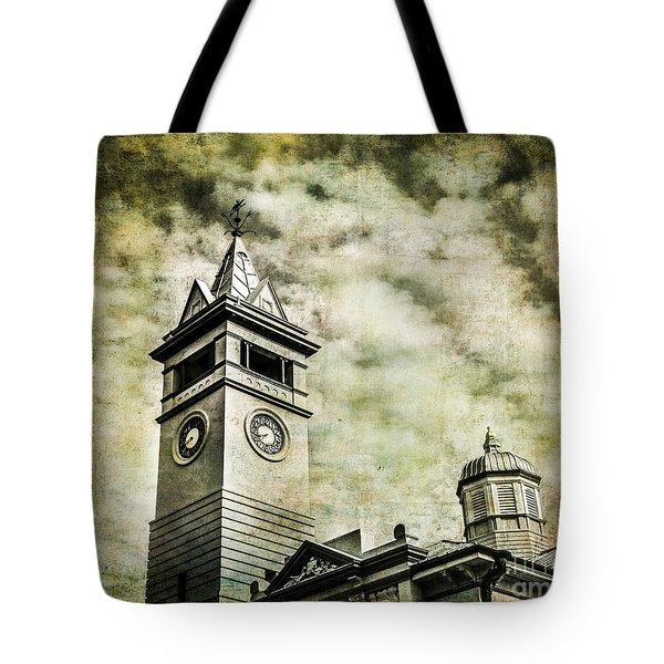 Old Clock Tower Tote Bag by Perry Webster