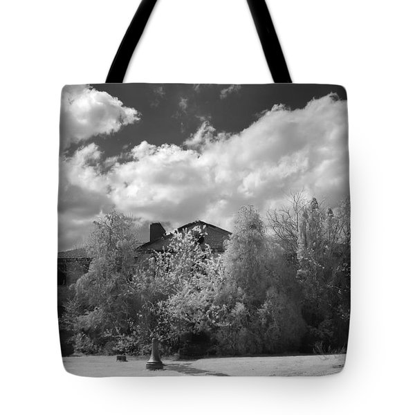 Old Coast Guard Barracks On Winter Island Tote Bag by Jeff Folger