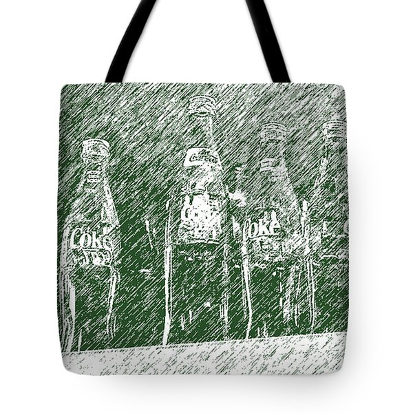 Tote Bag featuring the photograph Old Coke Bottles by Greg Reed