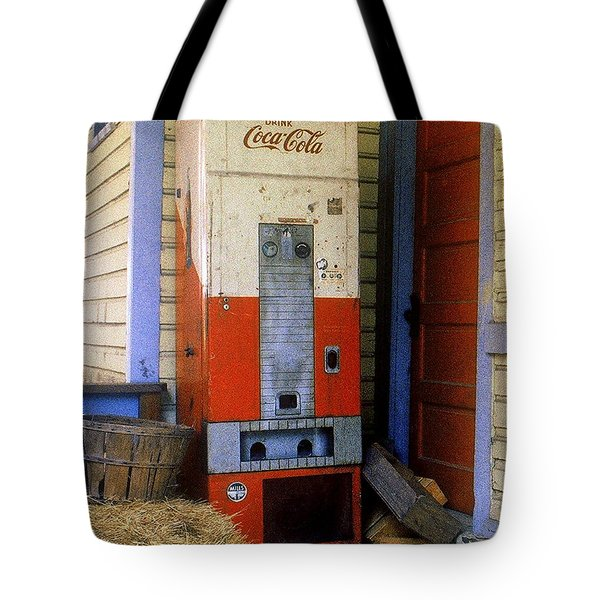 Old Coke Machine Tote Bag