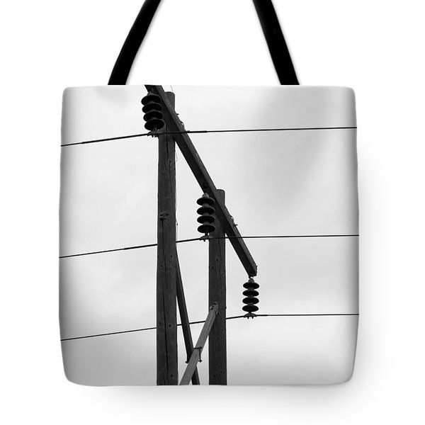 Old Country Power Line Tote Bag