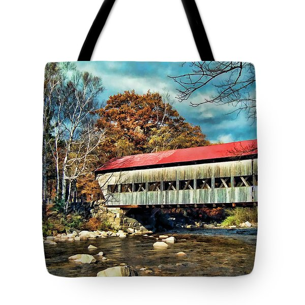 Tote Bag featuring the photograph Old Covered Bridge by Kenny Francis