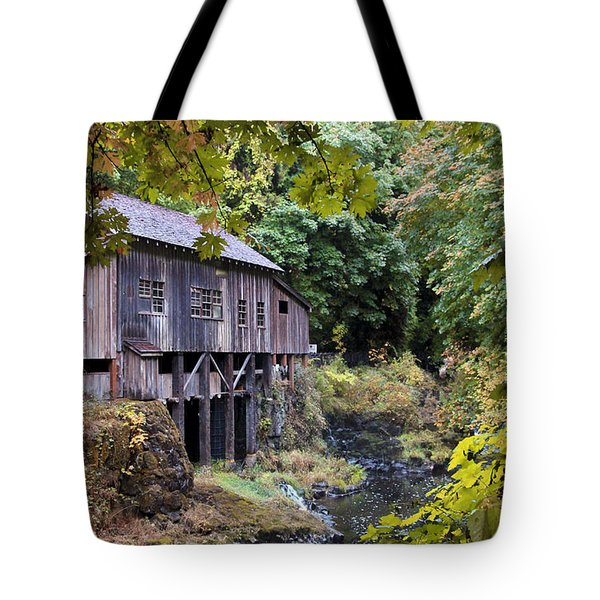 Old Creek Grist Mill In Autumn Tote Bag by Athena Mckinzie