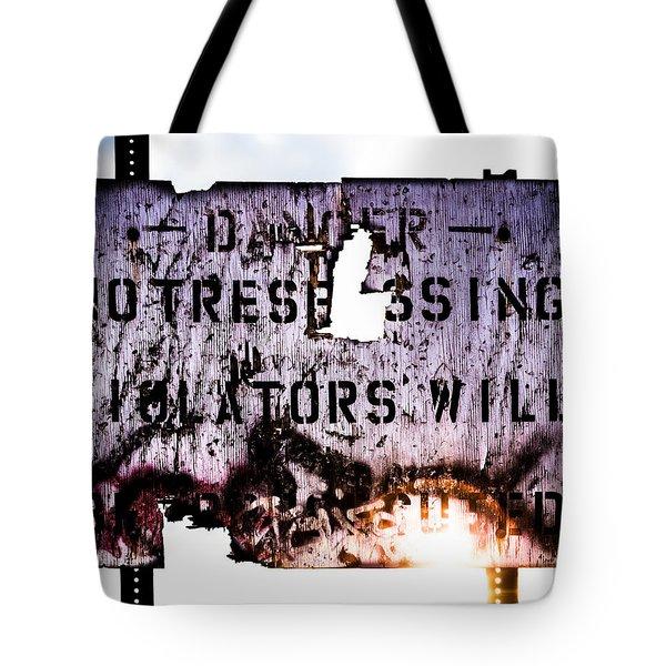 Old Danger Tote Bag by Bob Orsillo