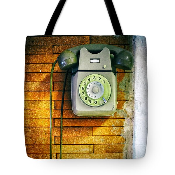 Tote Bag featuring the photograph Old Dial Phone by Fabrizio Troiani