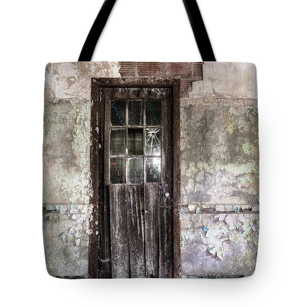 Old Door - Abandoned Building - Tea Tote Bag by Gary Heller