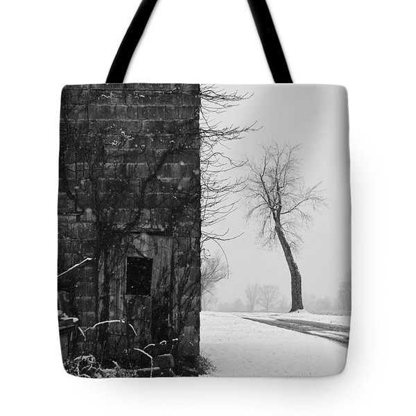 Old Door And Tree Tote Bag by William Jobes
