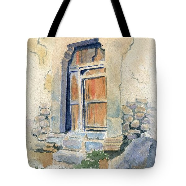 Old Door In Cuzco Peru Tote Bag