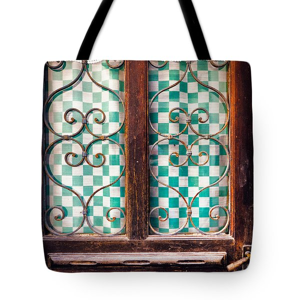 Tote Bag featuring the photograph Old Door by Silvia Ganora