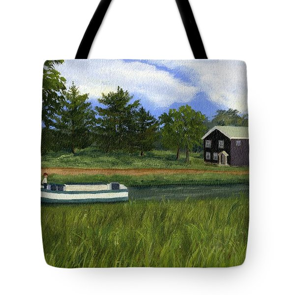 Tote Bag featuring the painting Old Erie by Lynne Reichhart