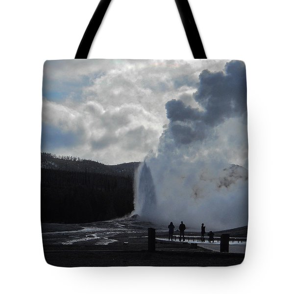 Tote Bag featuring the photograph Old Faithful Morning by Michele Myers