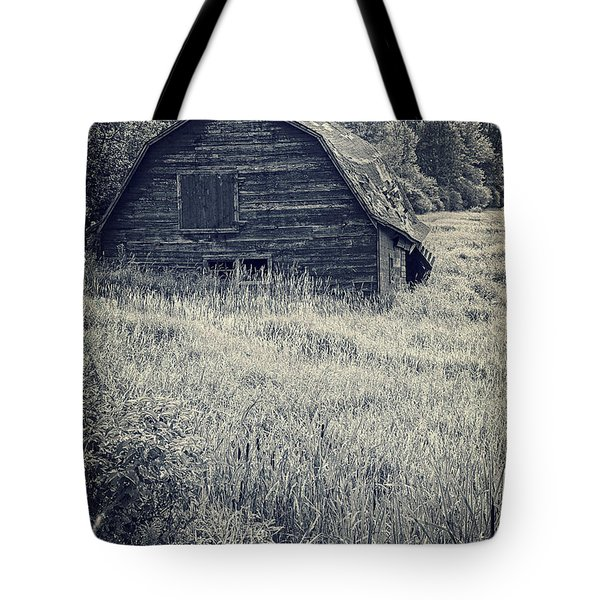 Old Falling Down Barn Blue Tote Bag