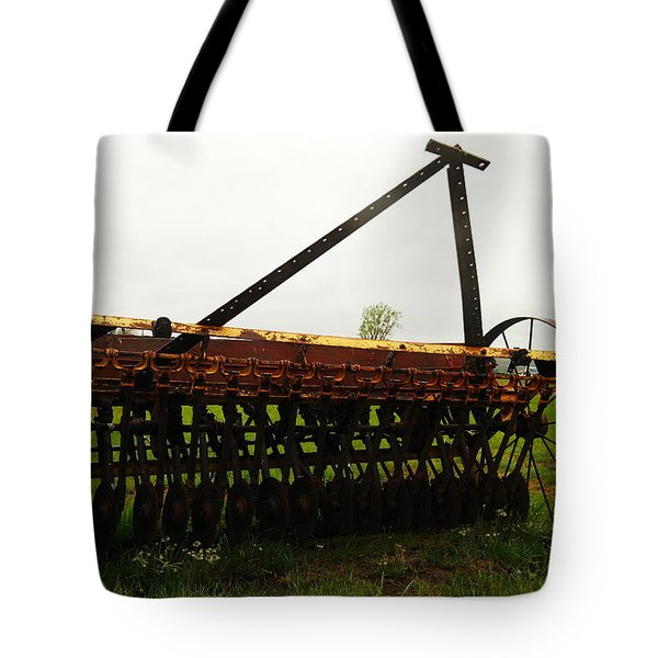 Old Farm Equipment Tote Bag by Jeff Swan