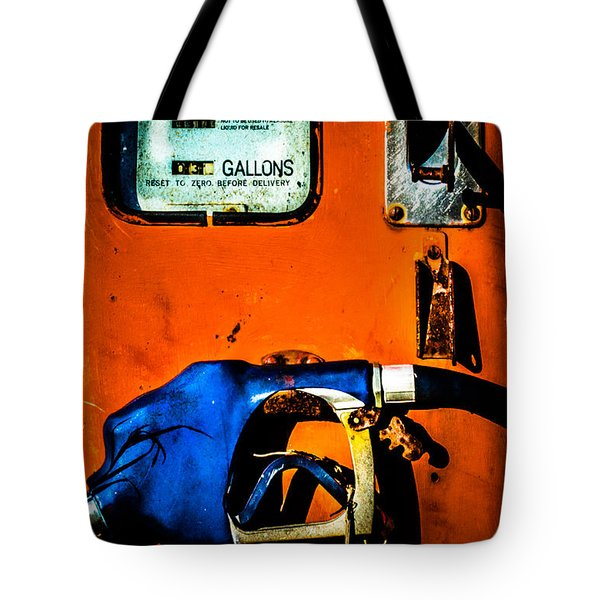 Old Farm Gas Pump Tote Bag