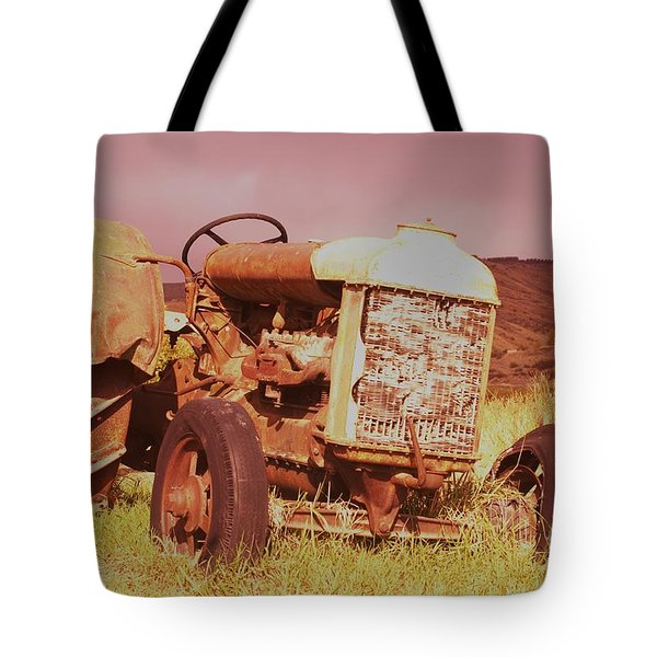 Old Farm Tractor  Tote Bag by Jeff Swan
