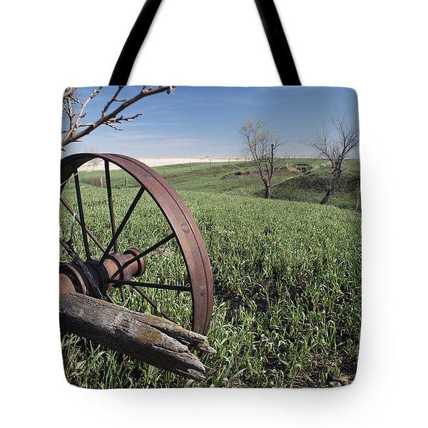 Old Farm Wagon Tote Bag by Art Whitton