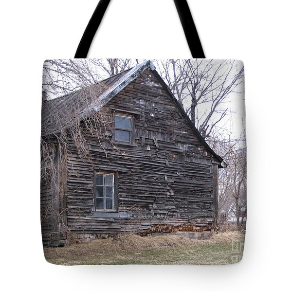 Old Farm Yamachiche Tote Bag by Line Gagne