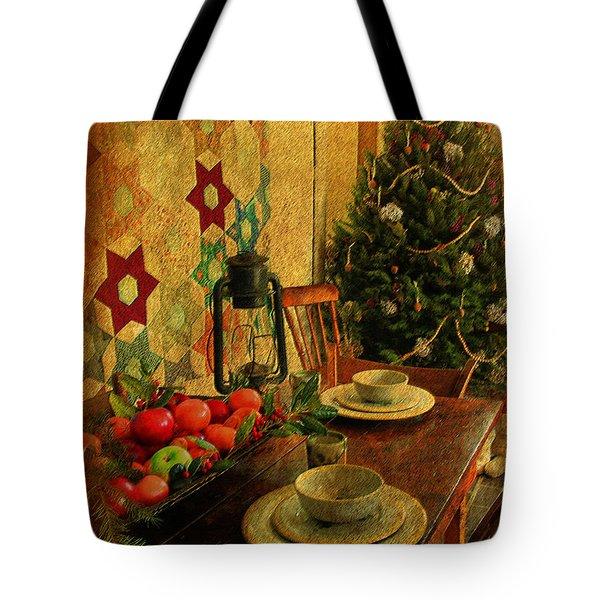 Tote Bag featuring the photograph Old Fashion Christmas At Atalaya by Kathy Baccari