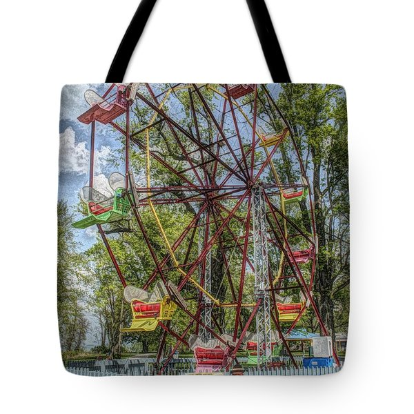 Old Fashioned Ferris Wheel Tote Bag