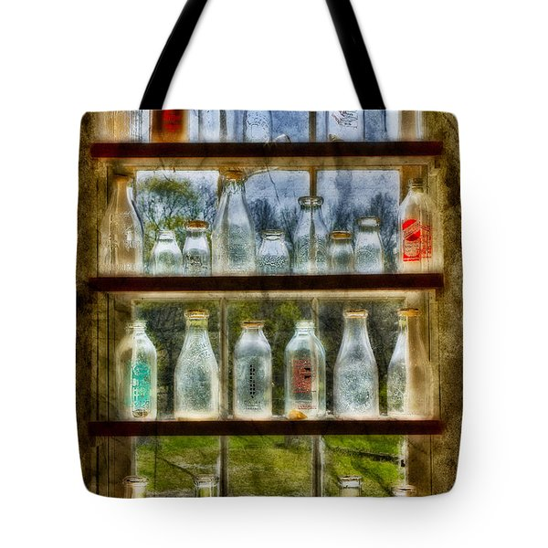 Old Fashioned Milk Bottles Tote Bag by Susan Candelario
