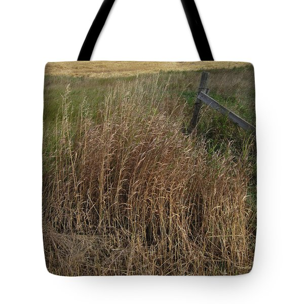 Old Fence Line Tote Bag