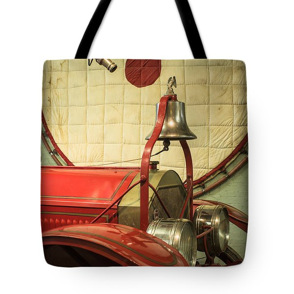 Old Fire Truck Engine Safety Net Tote Bag