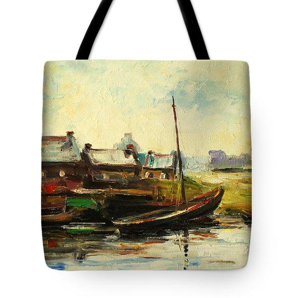 Old Fisherman's Village Tote Bag