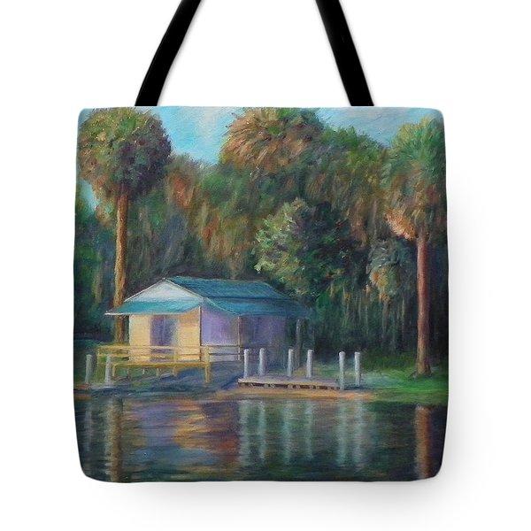 Old Florida Morning At Salt Springs Tote Bag