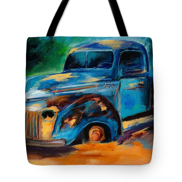 Old Ford In The Back Of The Field Tote Bag